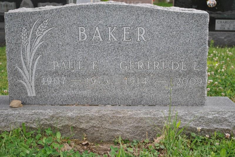 Baker, Gertude HS1, Baker, Gertude Headstone 1