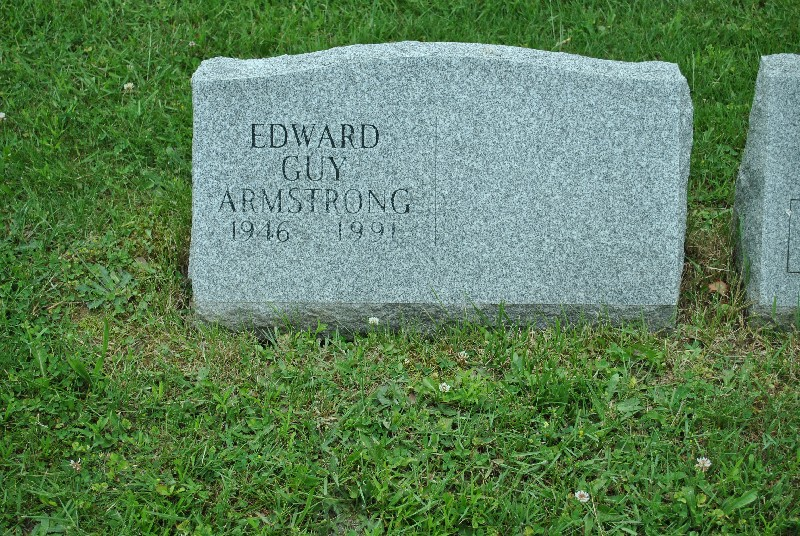 Armstrong, Edward HS1, Armstrong, Edward Headstone 1
