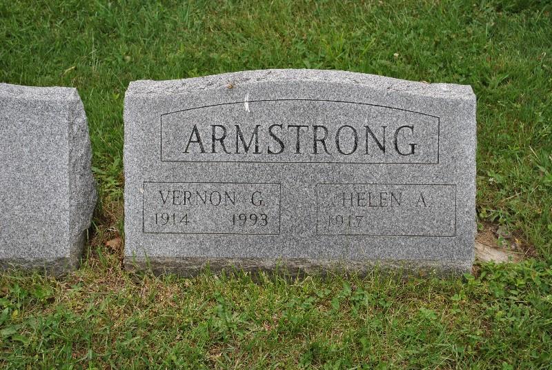 Armstrong, Vernon HS1, Armstrong, Vernon Headstone 1