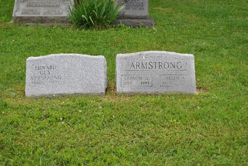 Armstrong, Vernon HS2, Armstrong, Vernon Headstone 2