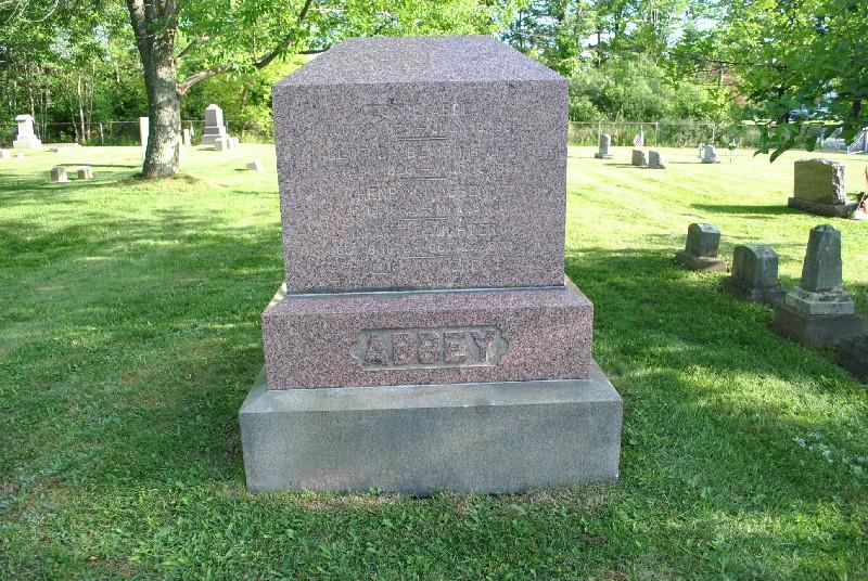Abbey, Zella Headstone 2, Abbey, Zella HS2