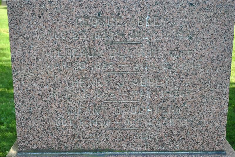 Abbey, George Headstone 2, Abbey, George HS2