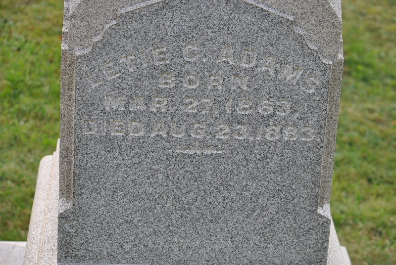 Adams, Letie Headstone 1, Adams, Letie Headstone 1